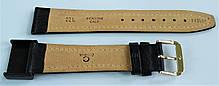 22 мм Кожаный Ремешок для часов CONDOR 062L.22.01 Черный Ремешок на часы из Натуральной кожи удлиненный, фото 2