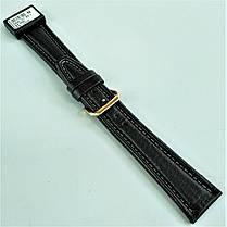 22 мм Кожаный Ремешок для часов CONDOR 062L.22.01 Черный Ремешок на часы из Натуральной кожи удлиненный, фото 3