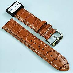 Ремешок из натуральной кожи CONDOR 285.22.27 (22 мм) коричневый кожаный ремешок на часы ремешок для часов