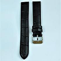 18 мм Кожаный Ремешок для часов CONDOR 305L.18.01 Черный Ремешок на часы из Натуральной кожи удлиненный, фото 2