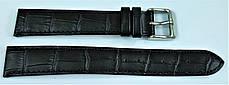 18 мм Кожаный Ремешок для часов CONDOR 305L.18.01 Черный Ремешок на часы из Натуральной кожи удлиненный, фото 3