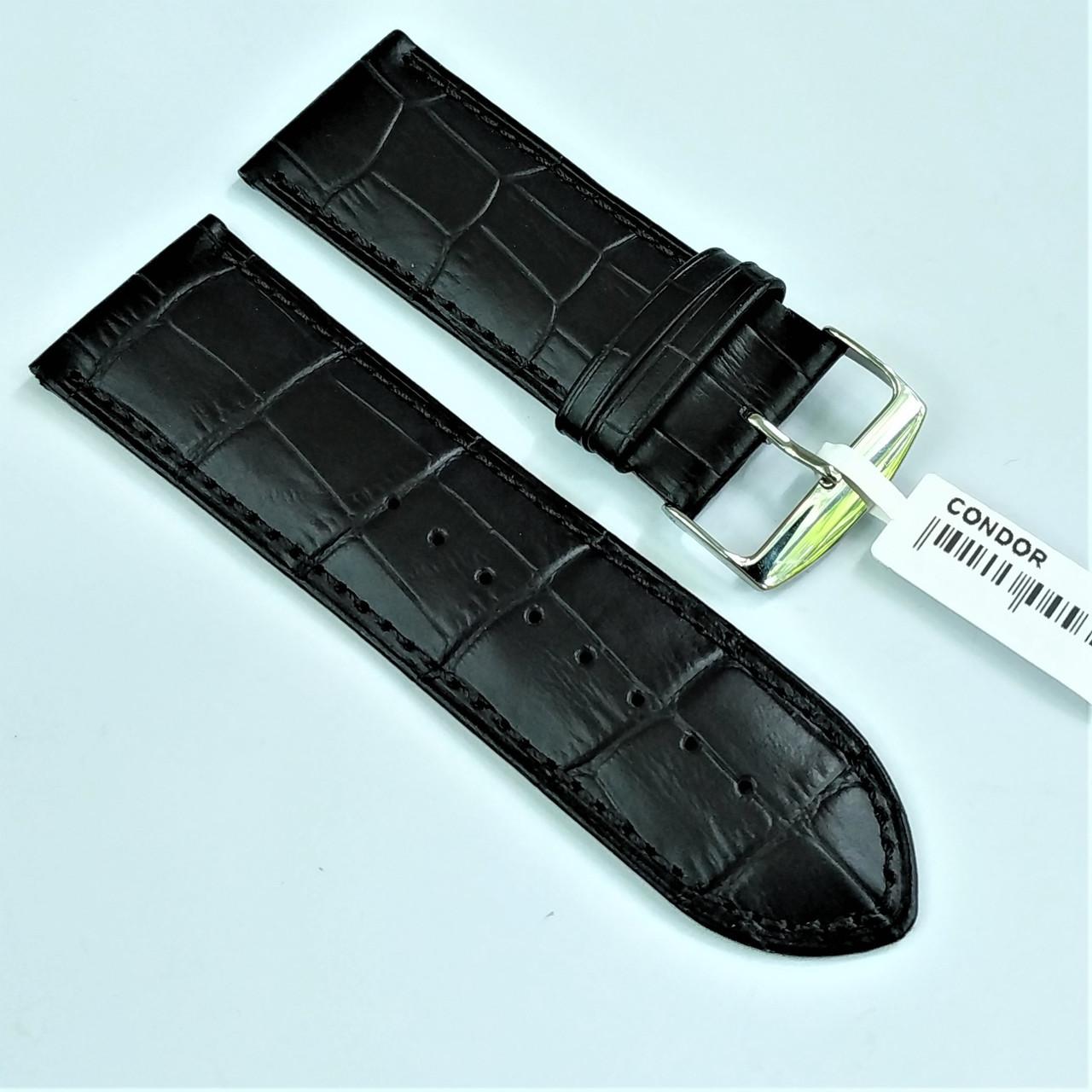 28 мм Кожаный Ремешок для часов CONDOR 305.28.01 Черный Ремешок на часы из Натуральной кожи