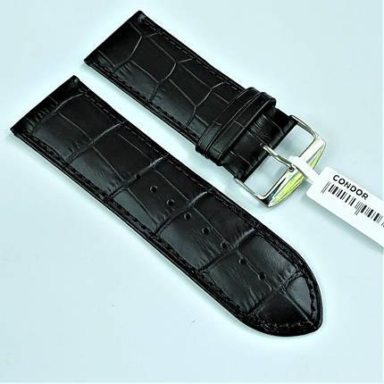 28 мм Кожаный Ремешок для часов CONDOR 305.28.01 Черный Ремешок на часы из Натуральной кожи, фото 2