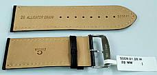 28 мм Кожаный Ремешок для часов CONDOR 305.28.01 Черный Ремешок на часы из Натуральной кожи, фото 3
