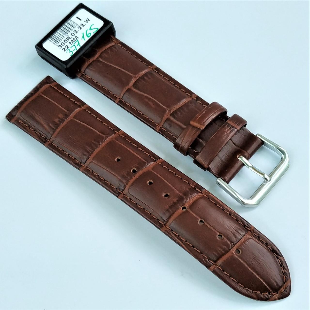 22 мм Кожаный Ремешок для часов CONDOR 305.22.02 Коричневый Ремешок на часы из Натуральной кожи