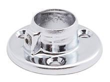 Кріплення до труби хромованої D25 (сталь або алюміній) фланець хром GIFF R11 система Джокер