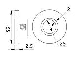 Кріплення до труби хромованої D25 (сталь або алюміній) фланець хром GIFF R11 система Джокер, фото 2