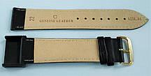 22 мм Кожаный Ремешок для часов CONDOR 123L.22.01 Черный Ремешок на часы из Натуральной кожи удлиненный, фото 2