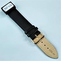 22 мм Кожаный Ремешок для часов CONDOR 123L.22.01 Черный Ремешок на часы из Натуральной кожи удлиненный, фото 3