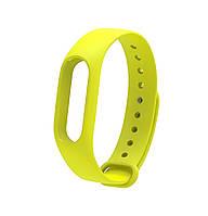 Ремешок Silicone для фитнес-браслета Xiaomi Mi Band 2 Yellow