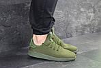 Мужские кроссовки Adidas Pharrell Williams (темно-зеленые), фото 3