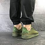 Мужские кроссовки Adidas Pharrell Williams (темно-зеленые), фото 5