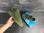 Мужские кроссовки Adidas Pharrell Williams (темно-зеленые), фото 4
