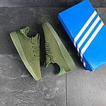 Мужские кроссовки Adidas Pharrell Williams (темно-зеленые), фото 6