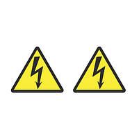 """Наклейка """"Опасность поражения электрическим током"""""""