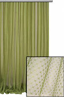 Тюль арника, цвет оливковый