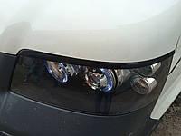 Volkswagen T5 Caravelle 2004-2010 гг. Реснички (2 шт, черные) Черный глянец