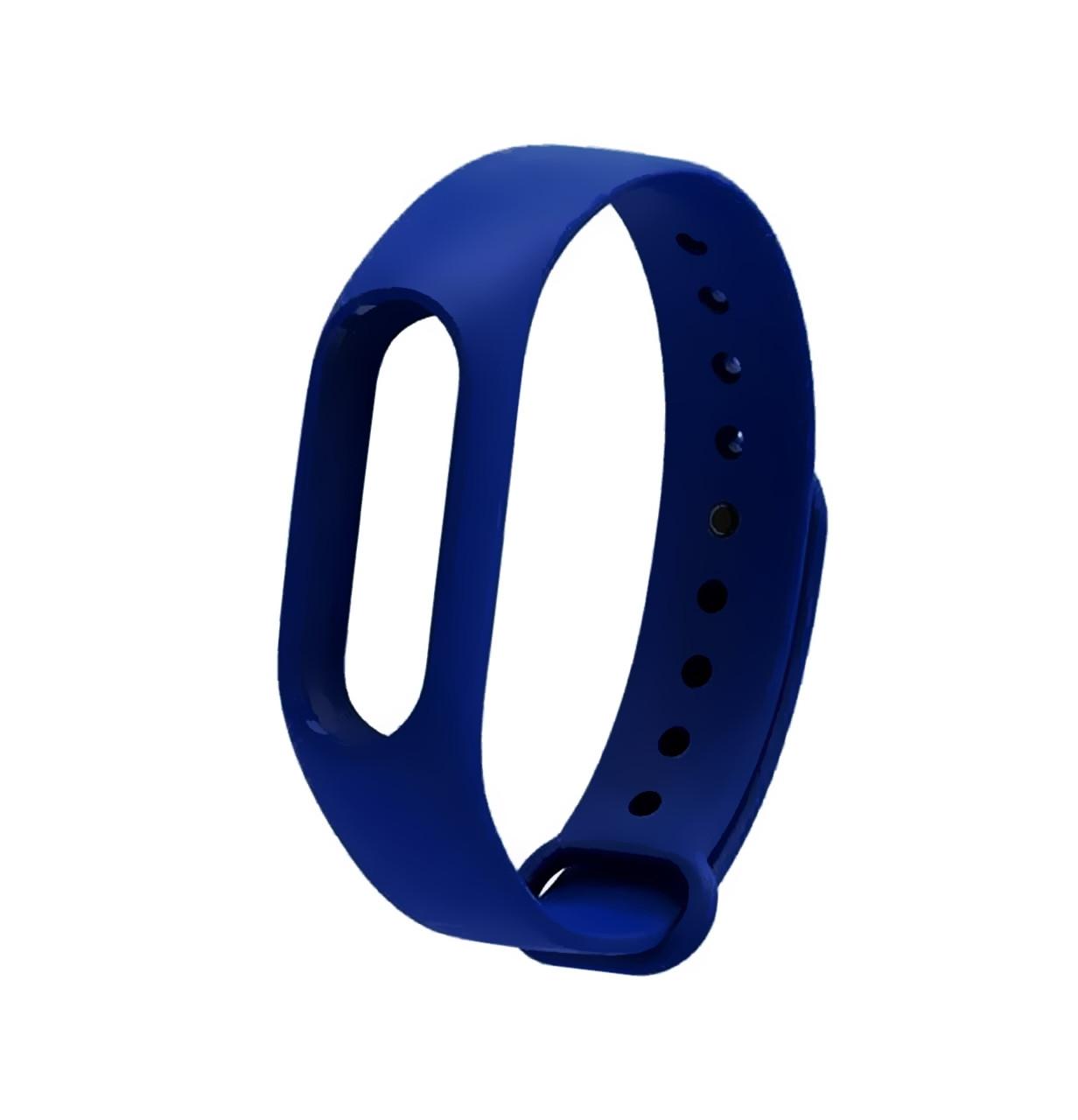 Ремешок Silicone для фитнес-браслета Xiaomi Mi Band 2 Navy Blue