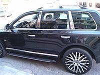 Volkswagen Touareg 2010-2018 гг. Накладки на стойки (6 шт, нерж) Carmos - Турецкая сталь