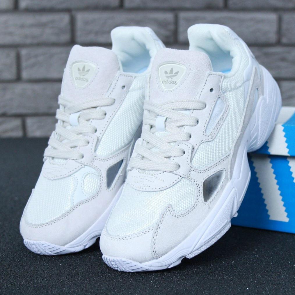 f6973c12 Кроссовки Женские Adidas Falcon white, Адидас Фалькон белые / Реплика 1:1  Оригинал -