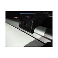 BMW X3 E-83 2003-2010 гг. Поперечный багажник на интегрированые рейлинги (с ключем) Серые