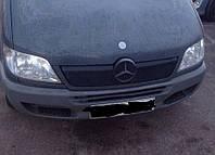 Mercedes Sprinter 1995-2006 гг. Зимняя накладка на решетку 2002-2006, Глянцевая