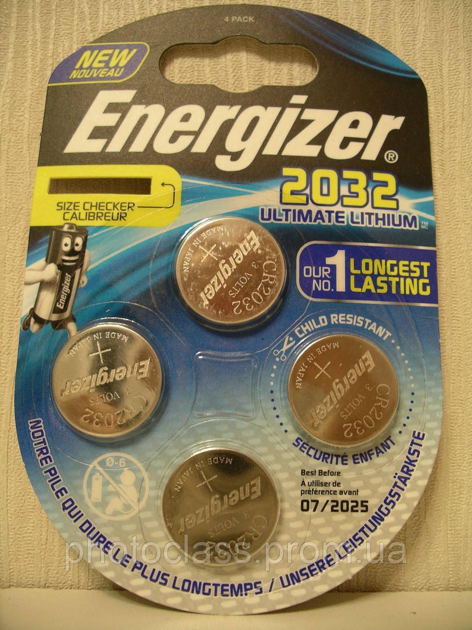 Energizer Ultimate Lithium 2032 батарейка (4 штуки)