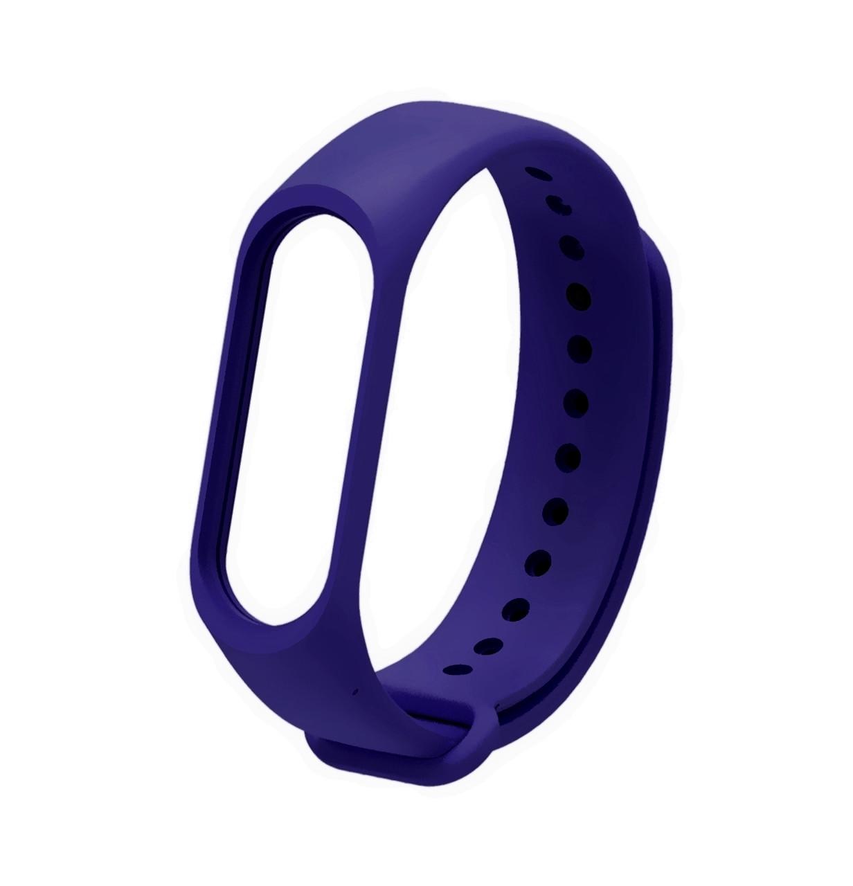 Ремешок Silicone для фитнес-браслета Xiaomi Mi Band 3 / Mi Band 4 Navy Blue