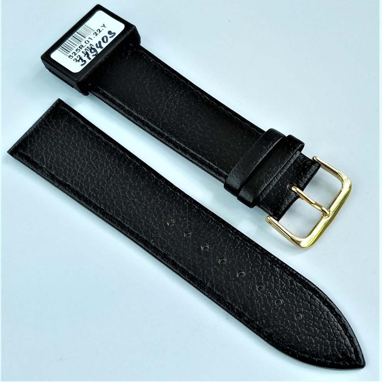 22 мм Кожаный Ремешок для часов CONDOR 525.22.01 Черный Ремешок на часы из Натуральной кожи