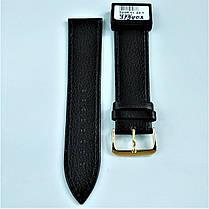 22 мм Кожаный Ремешок для часов CONDOR 525.22.01 Черный Ремешок на часы из Натуральной кожи, фото 2
