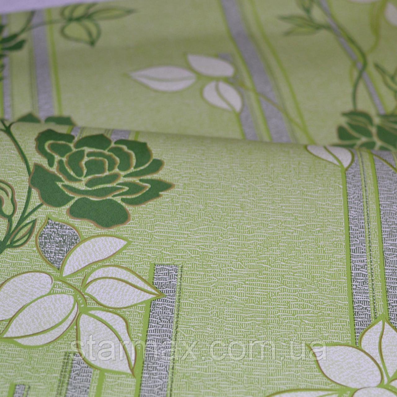 Обои, бумажные, цветы,зеленый, Милена 1046, 0,53*10м