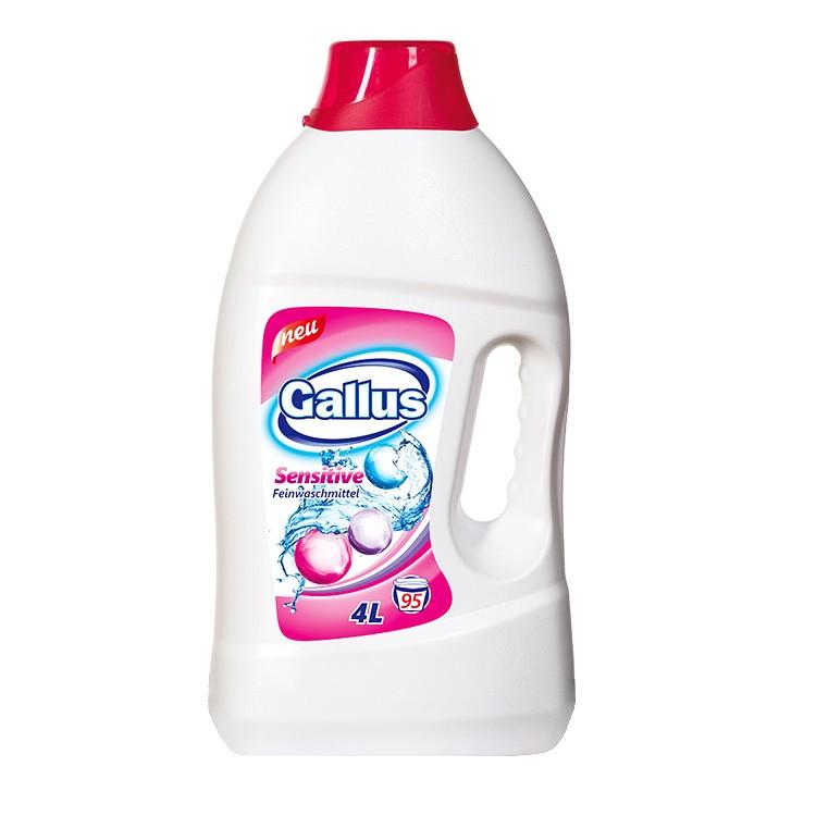 Гель для прання делікатних тканин Gallus Sensitive 4L/95 прань - Німеччина