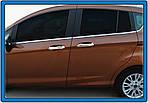 Накладки на ручки (4 шт, нерж.) OmsaLine - Итальянская нержавейка для Ford B-Max 2012↗ гг.