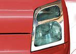 Ford Connect 2010-2014 рр. Накладки на фари (2 шт., нерж.) Carmos - Турецька сталь