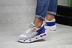 Женские кроссовки Balenciaga (бежево-синие), фото 2