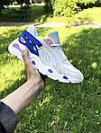 Женские кроссовки Balenciaga (бежево-синие), фото 4