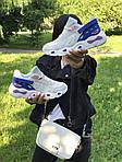 Женские кроссовки Balenciaga (бежево-синие), фото 7