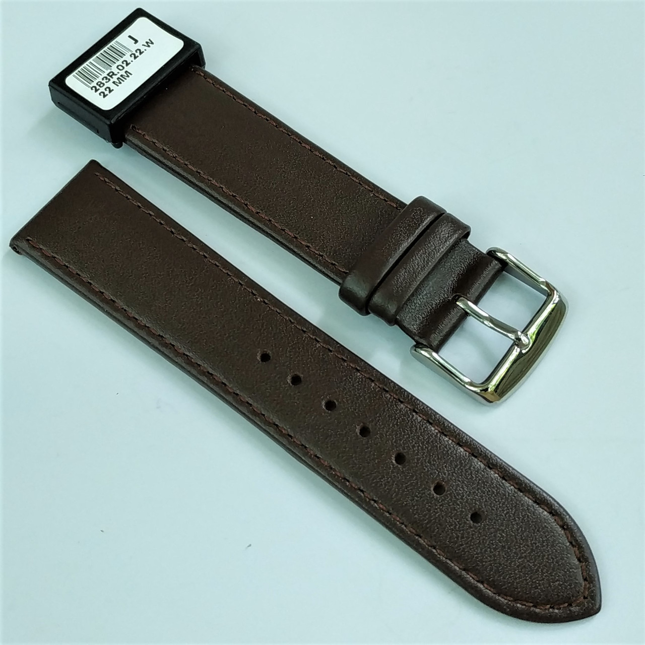 22 мм Кожаный Ремешок для часов CONDOR 283.22.02 Коричневый Ремешок на часы из Натуральной кожи