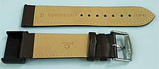 22 мм Кожаный Ремешок для часов CONDOR 283.22.02 Коричневый Ремешок на часы из Натуральной кожи, фото 3