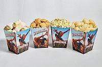 """Коробочки для сладостей и попкорна """"ЧЕЛОВЕК ПАУК """"  5 штук"""