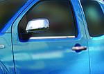 Nissan Navara 2006-2015 рр. Накладки на дзеркала (2 шт., нерж.) Без повторювача повороту