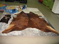 Шкура коровы коричневая натурал