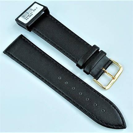 22 мм Кожаный Ремешок для часов CONDOR 340.22.01 Черный Ремешок на часы из Натуральной кожи, фото 2
