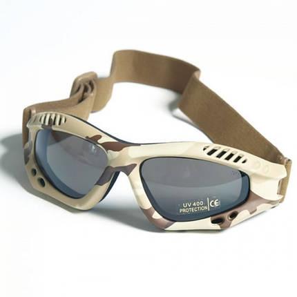 Тактические очки десанта MilTec Air Pro Desert 15615360, фото 2
