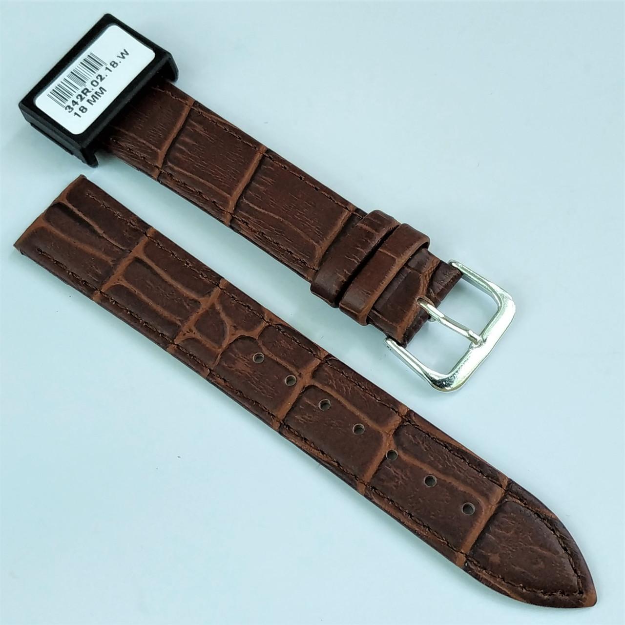 18 мм Кожаный Ремешок для часов CONDOR 342.18.02 Коричневый Ремешок на часы из Натуральной кожи