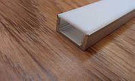 Алюминиевый профиль для светодиодной ленты накладной с рассеивателем LED-05, фото 1