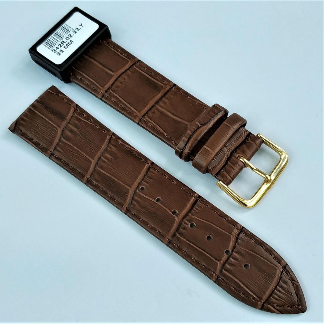 22 мм Кожаный Ремешок для часов CONDOR 342.22.02 Коричневый Ремешок на часы из Натуральной кожи