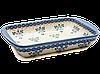 Керамическая форма для выпечки и запекания прямоугольная малая 29,5 х 20,5 с ушками Blue Chintz