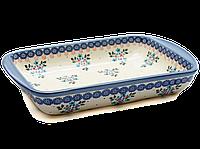 Керамическая форма для выпечки и запекания прямоугольная малая 29,5 х 20,5 с ушками Blue Chintz, фото 1