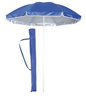 Зонт пляжный однотонный с серебристым напылением 1.8 м с наклоном